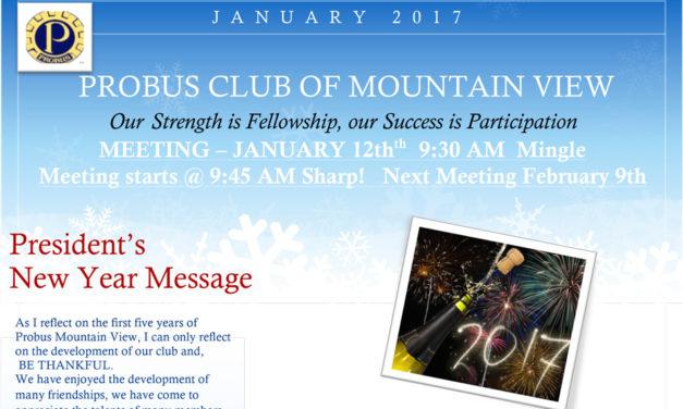 January '17 Newsletter