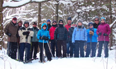 First snowshoeing outing of the season