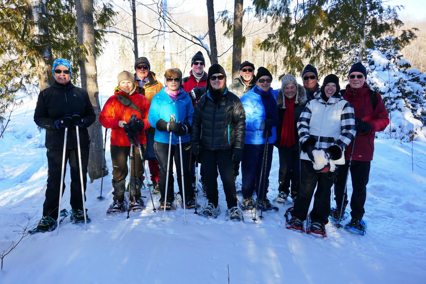 Snowshoeing along Beaver Valley