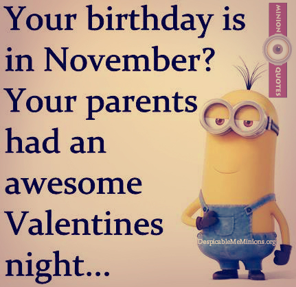 It's your birthday - NOVEMBER people