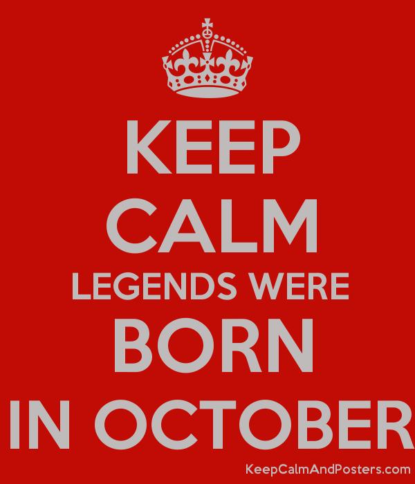 It's your birthday - OCTOBER babies