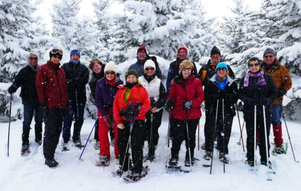 Snowshoeing on the Escarpment