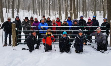 Snowshoeing on Creemore's Mingay Trail