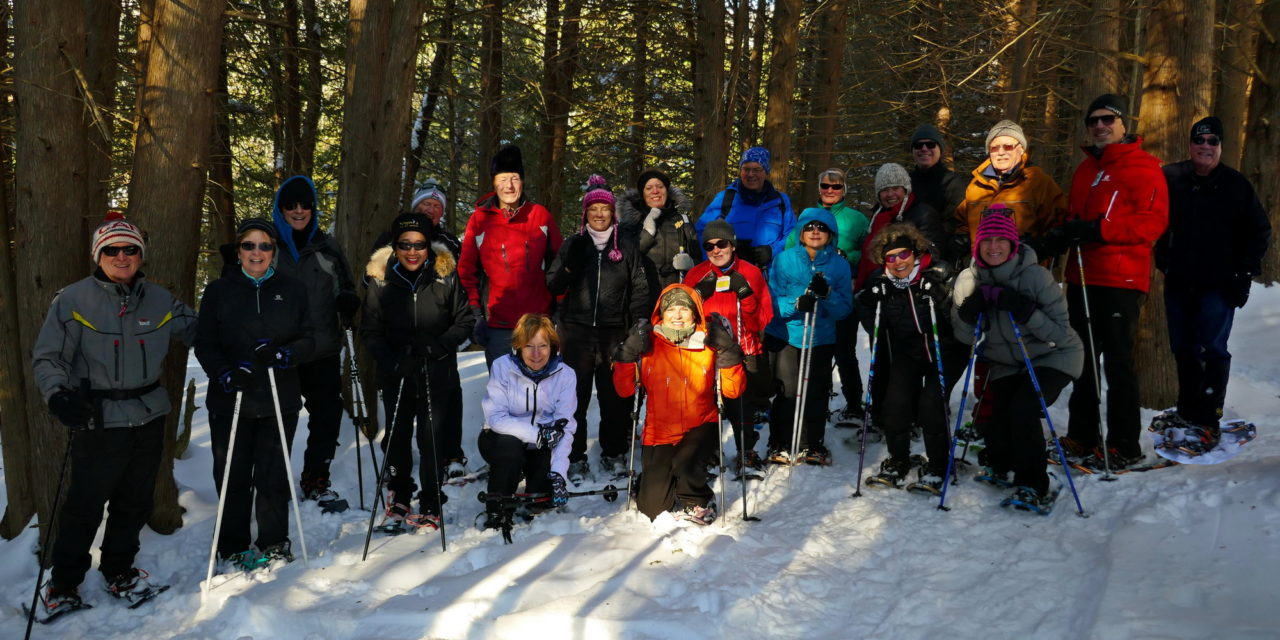 """A """"Love""""ly Valentines Day Snowshoe along the Pretty River :)"""