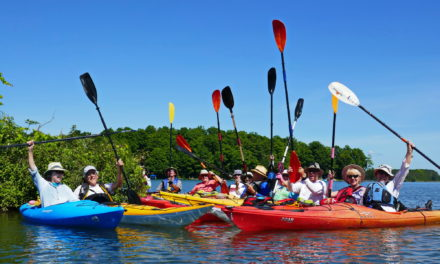 One lap around Lake Eugenia for Kollingwood Kayakers!