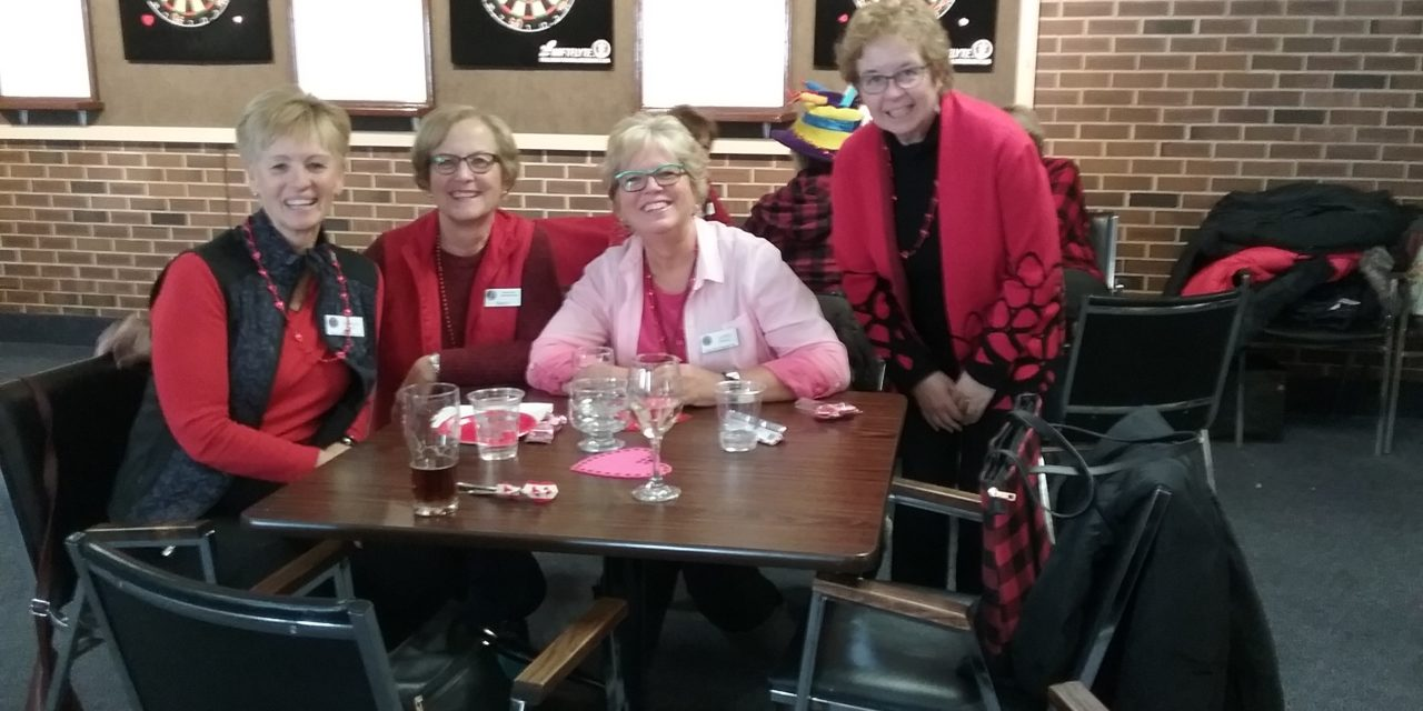 (Darts) ladies in RED