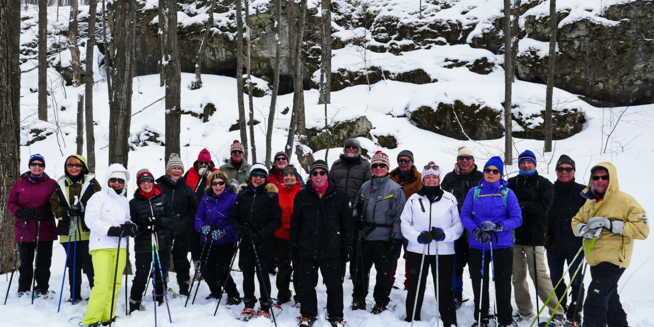 Snowshoeing on the Nottawasaga Bluff!