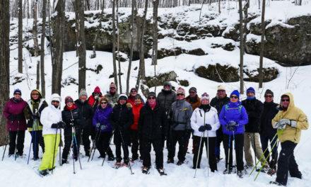 Snowshoeing on the Nottawasaga Bluff!