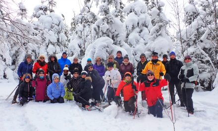 Snowshoeing in the Petun Conservation Area
