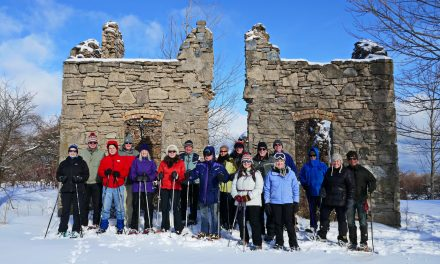 Snowshoeing up on Beautiful Blue Mountain by a Fabulous Fixer Upper!