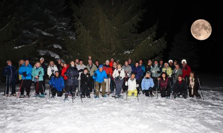 Full Moon Snowshoe on the Blue Mountain Golf Course & Kelsey's of course!!