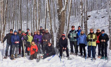 Snowshoeing around Scenic Singhampton