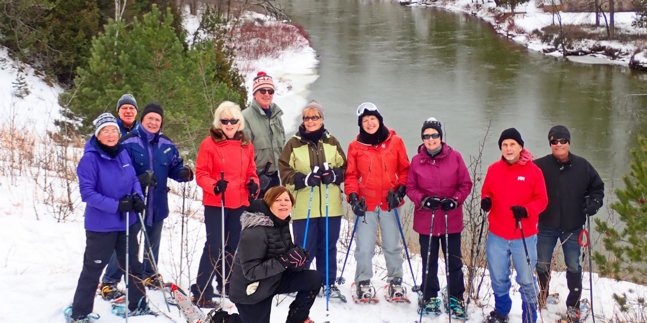 Probus Snowshoe to the China Bowl – Nottawasaga River