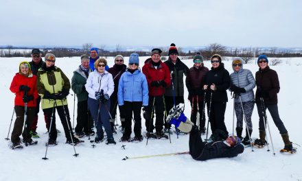 Mountainview Snowshoers….Outstanding in their Field!! (Except for Sue :)